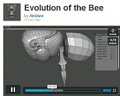Videotutoriales, tutoriales html y mas para Wings3D  box-modeling -bee-in-wings3d.jpg