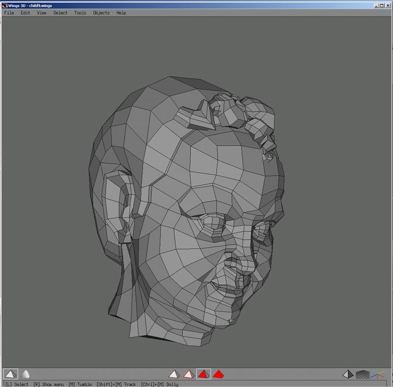 Cabeza humana  Dudas de modelado i consejos -child2.jpg