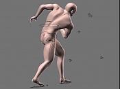 Escultura humana Rig gratuito  desnudez, planeando rig de musculos reales, BlenRig -pose2h.jpg