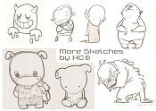 Dibujos rapidos , Bocetos  y apuntes  en papel -more_sketches_herbiecans.jpg