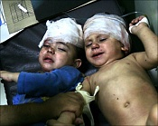 El terrorismo israeli ataca a un barco con ayuda humanitaria para Gaza -children_wounded.jpg