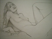 Dibujos rapidos , Bocetos  y apuntes  en papel -playa.jpg