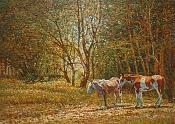 Oleo sobre tabla : Caballos en el bosque 30 x 40 cm-caballos_en_el_bosque_zhay.jpg