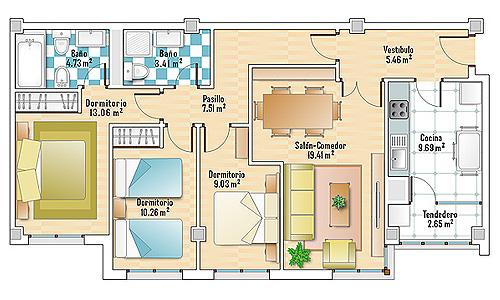 Planos como dibujo for Dibujos de muebles para planos arquitectonicos