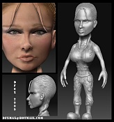 Heroina  personaje videojuego Colombiano -heroina_finalsculp_12-02-09.jpg