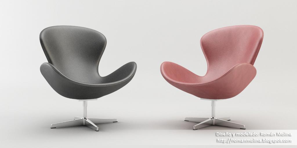 Modelo gratuito silla swan versin personal