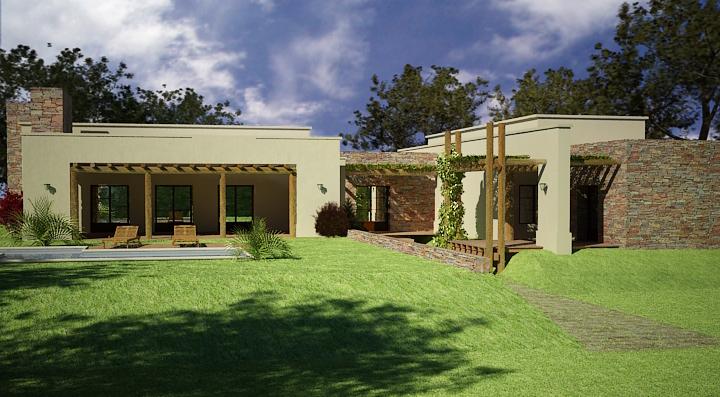 Primeros renders con vray for Casas modernas renders