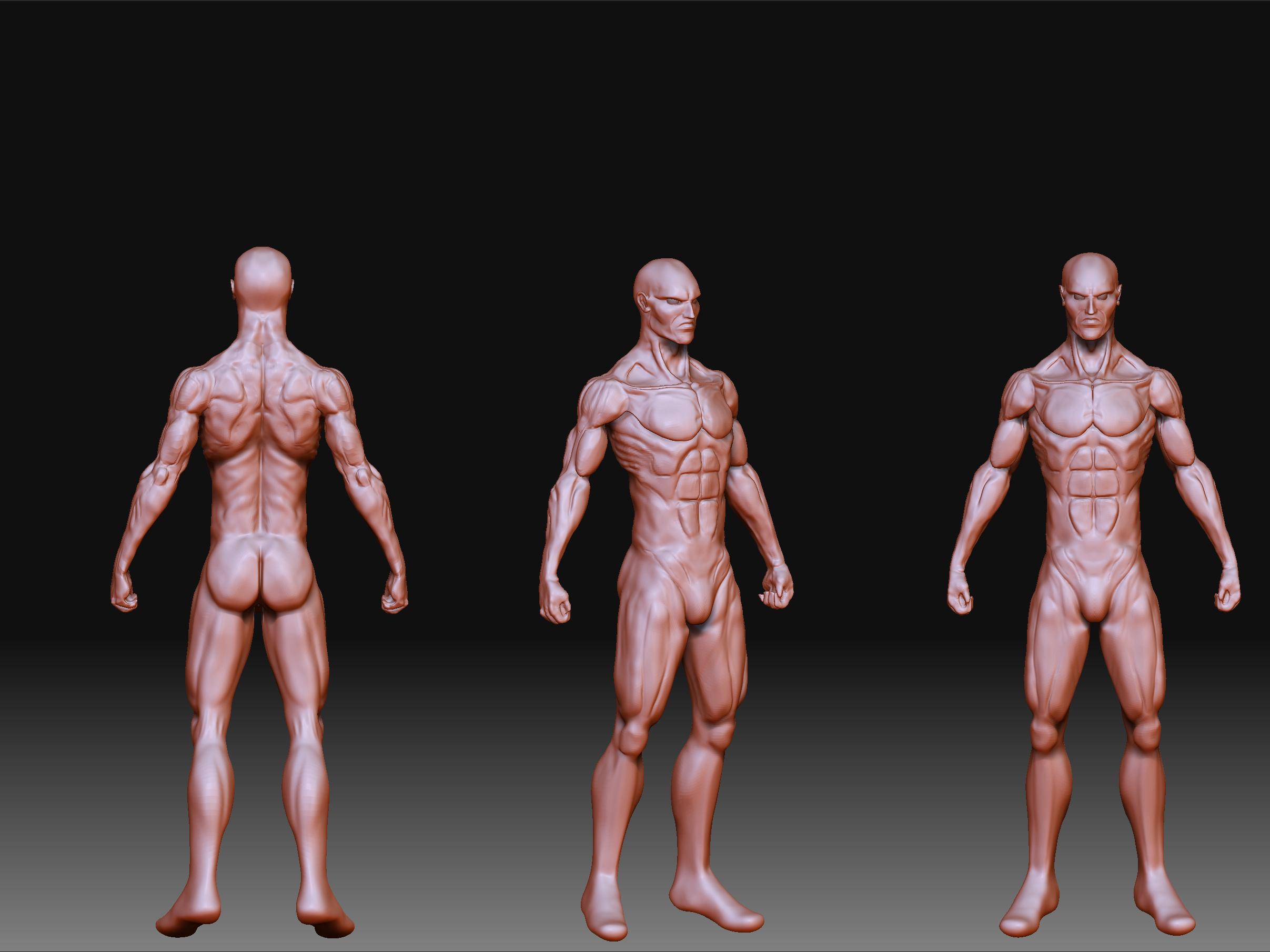 ZBrush] Mi primer cuerpo xd