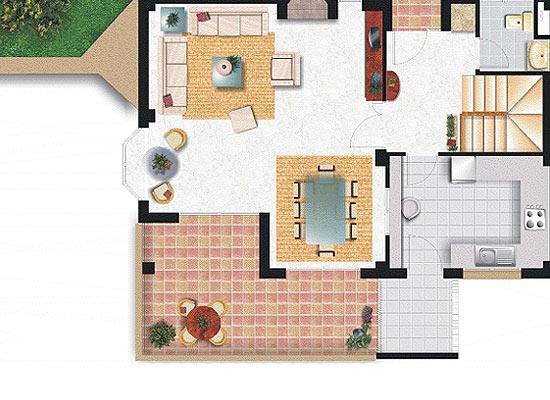 Generar vistas planta viviendas for Plantas de viviendas
